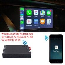 WIFI اللاسلكية أبل CarPlay تفعيل صندوق وحدة لأودي A3 A4 A5 A6 A7 A8 Q3 Q5 Q7 S4 S5 MMI 3G 2G ل IOS و أندرويد الهاتف