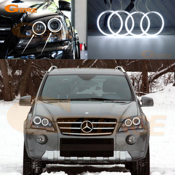 цена на For Mercedes Benz M Class W164 ML 2008 2009 2010 2011 facelift Excellent Ultra bright CCFL Angel Eyes kit halo rings
