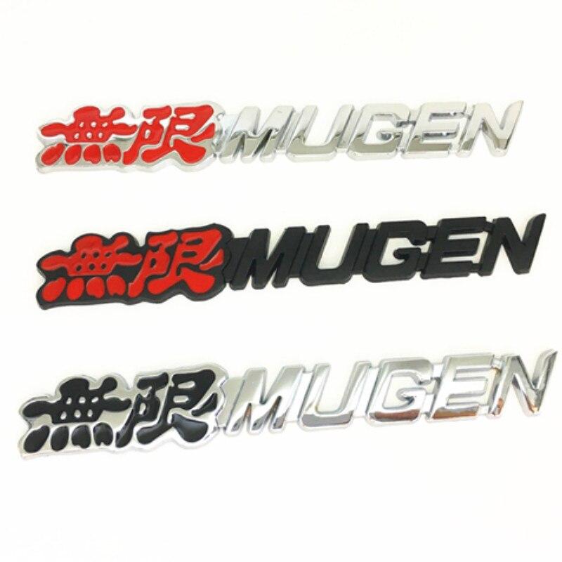 Металлическая 3d-эмблема Mugen с логотипом, значок для заднего багажника автомобиля, наклейка, наклейки, автостайлинг, автомобильные аксессуар...