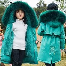 -30 graus 2020 crianças meninas roupas mais velo engrossar parka para a menina impermeável snowsuit inverno para meninas casaco da menina do bebê