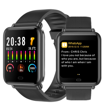 q9t sports smartwatch body temperature measure custom watch face smart watch men women heart rate bracelet for android ios pk p9 Q9T Smart Watch Men Bluetooth 5.0 Custom Watch Face Thermometer Heart Rate Blood Pressure Call Message Reminder Smartwatch PK P8