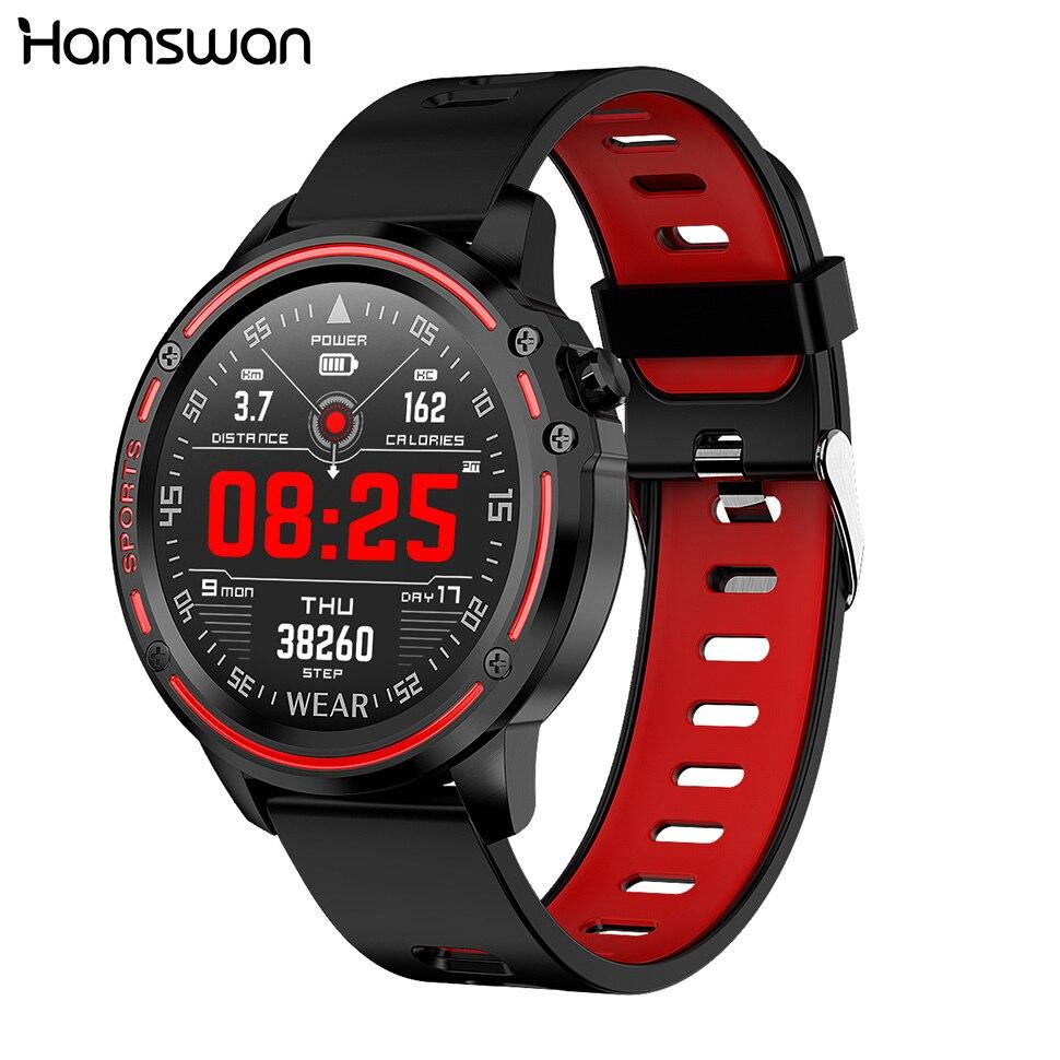 Hamswan Esportes Relógio Inteligente Homens Com Pressão Arterial e Freqüência Cardíaca ECG + PPG IP68 Esportes Fitness Aptidão Rastreador Smartwatch À Prova D' Água