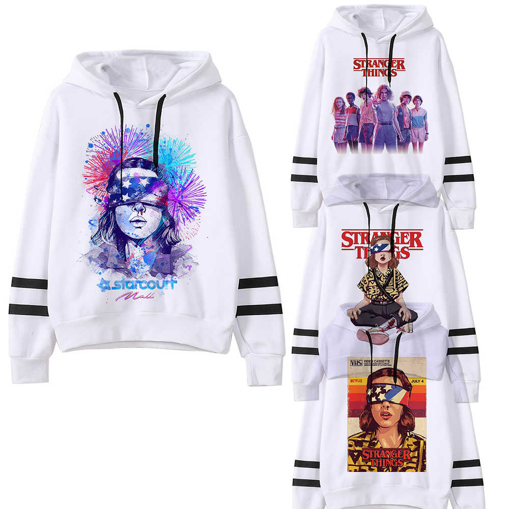 Stranger Things Season 3 Harajuku Warm Hoodie Women Ullzang Eleven Upside Down Funny 90s Sweatshirt Graphic Fashion Hoody Female