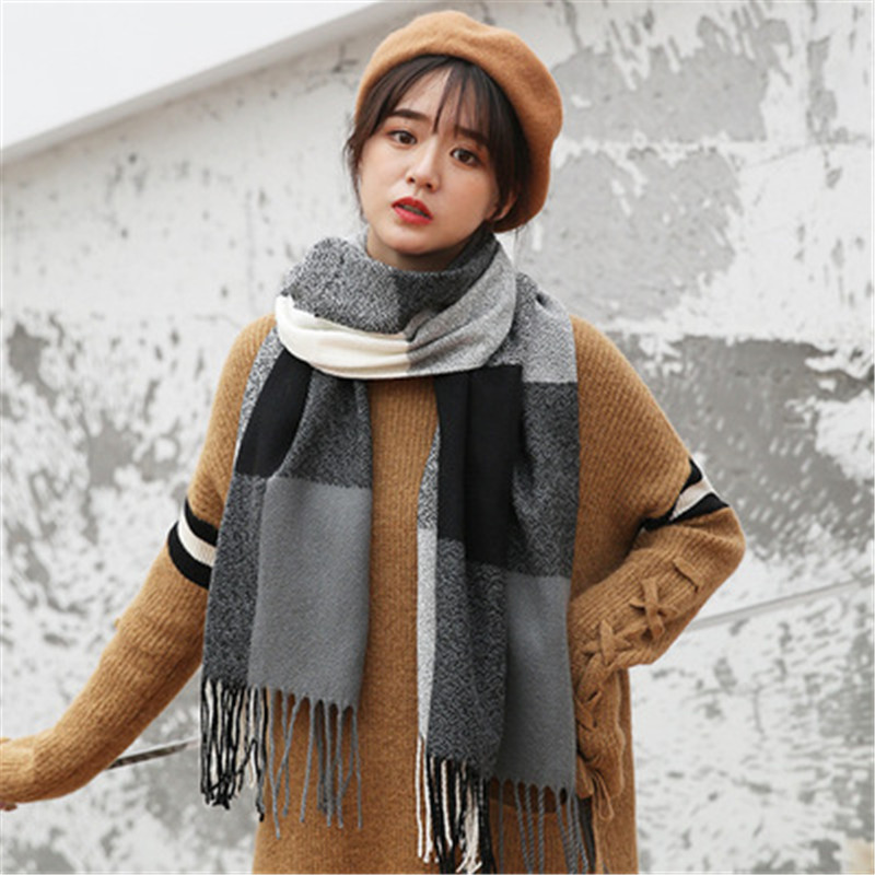 CoolCheer 15 Colors Women Scarf Vintage Ladies Solid Color Black Red White Scarves Warp Autumn Winter Women Long Scarf