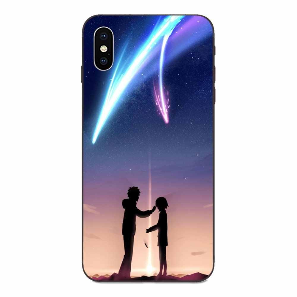 Per il iphone di Apple 4 4S 5 5S SE 6 6S 7 8 Più di X XS Max XR disegno Della Novità Fundas Del Telefono Mobile Borsette Anime Giapponese Il Tuo Nome