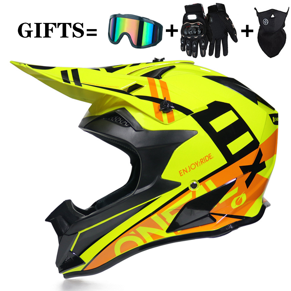 Racing Off-road Motorcycle Helmet Motocross Dirt Bike Helmet Moto Casco Vintage Casco Motocross Full Face Helmet DOT 3 Gifts