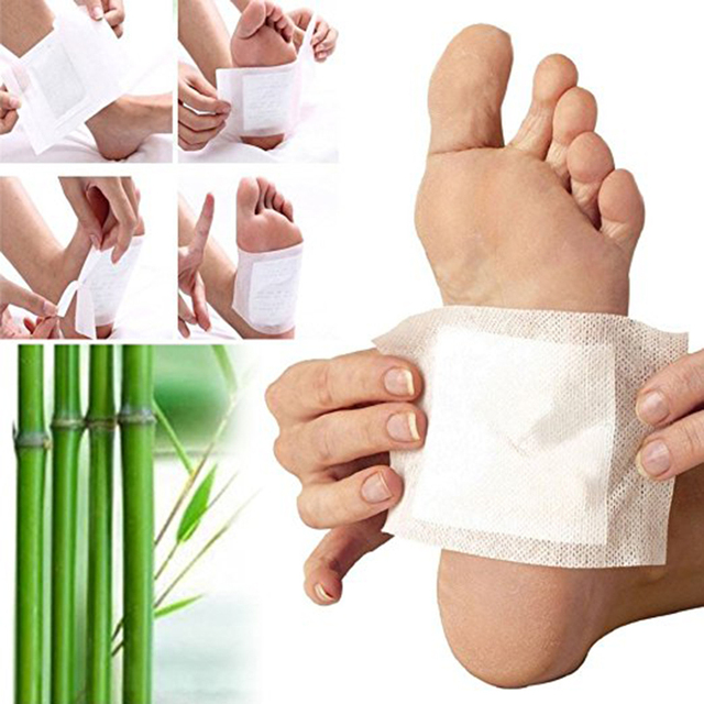 10pcs / Bag Slimming Foot Patches Detox Foot Patch Mask Relieve Fatigue Remove Toxin Foot Help Sleep Skin Care Pads Sticky TSLM1 2