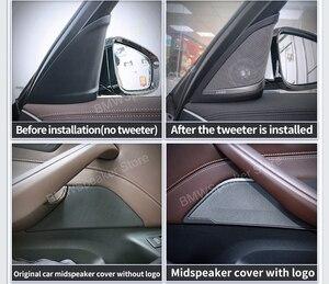Image 3 - Auto front Tür Lautsprecher Für BMW G30 5 Serie Harman/kardon Hochtöner Abdeckung Audio Trompete Höhen Hohe Horn Rahmen trim Besser Sound