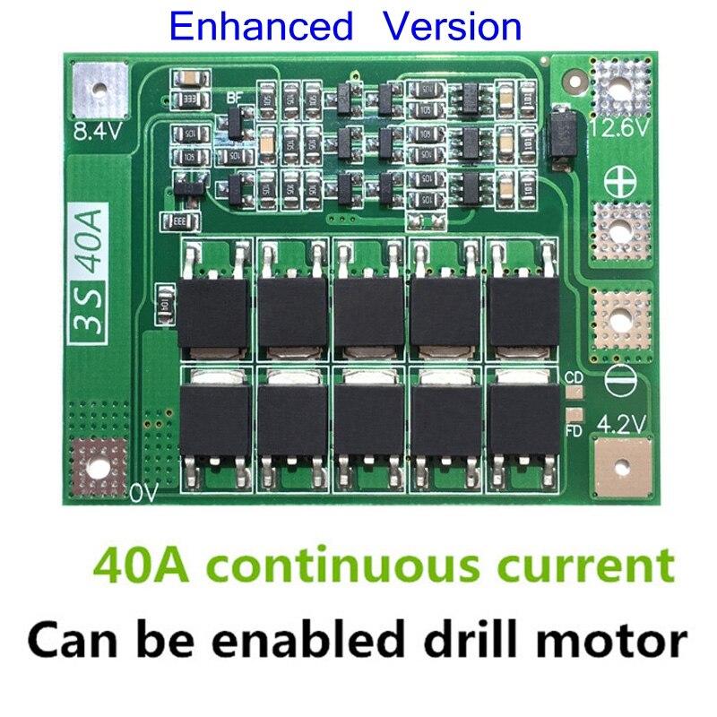 3S 40A Li-ion cargador de batería de litio Placa de protección PCB BMS para taladro Motor 11,1 V 12,6 V Módulo de célula Lipo F08474 IMAX RC B3 Pro Cargador Del Balance Compacto para 2 S 3 S 7.4 V 11.1 V de Litio de La Batería LiPo + Freepost