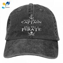 Fashion Hat Captain Pirate Casquette-Cap Vintage Like Adjustable Unisex Play Soft