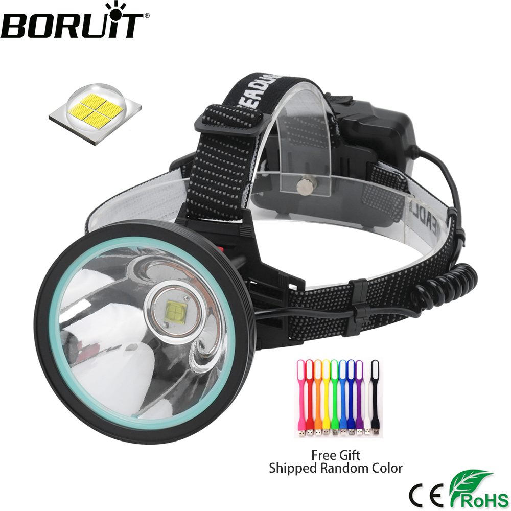 BORUiT K09 XHP-90 LED Sensor Headlamp High Power 8000LM Headlight Rechargeable 18650 Head Torch Power Bank Lantern for Camping(China)