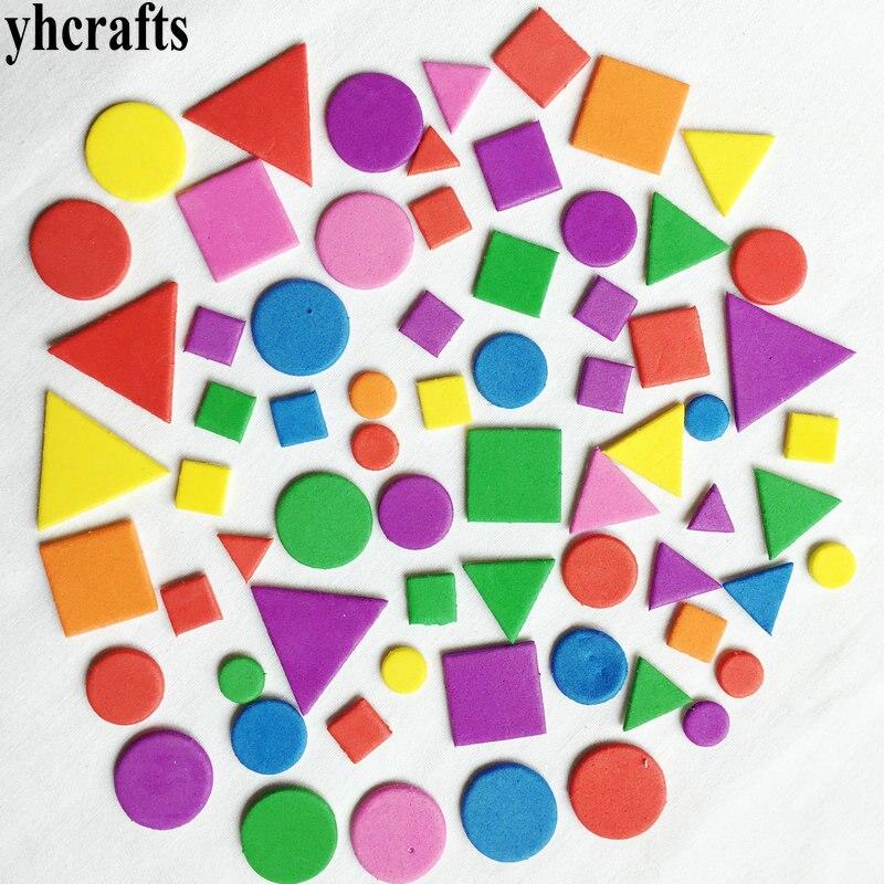 1 пакетов/лот, снежинка, рождественские наклейки из пены для раннего обучения, Обучающие поделки, diy игрушки, детская комната, орнамент, цветная обучающая креативная OEM - Цвет: 250PCS irregular