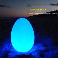 LED noche luces control remoto 16 RGB Escritorio de Color lámparas de mesa de forma de huevo ambiente al aire libre, Bar, KTV, restaurante escritorio luz mesa de Bar