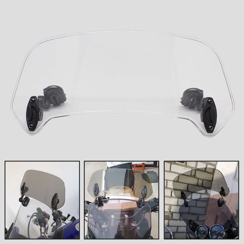 Motorcycle Windshield Extension Bracket Adjustable Clip-On Spoiler Windscreen Air Deflecto Universal For BMW Honda Suzuki Yamaha