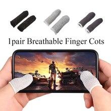 1 пара мобильный палец стойло чувствительный игра контроллер защита от пота дышащий палец детские кроватки аксессуары для Iphone Android смартфон телефон