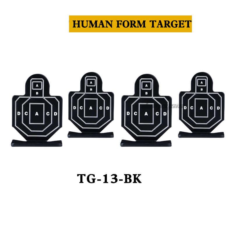 Objetivo de práctica de tiro de 4 Uds./paquete, Rifle táctico de entrenamiento de caza, objetivo de Tiro Militar de acero metálico