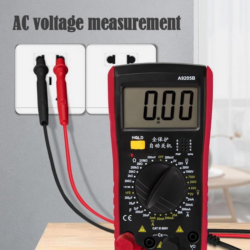 Portable Electrical Digital Multimeter Backlight AC DC Ammeter Voltmeter Tester Meter Handheld LCD Voltmeter Volt