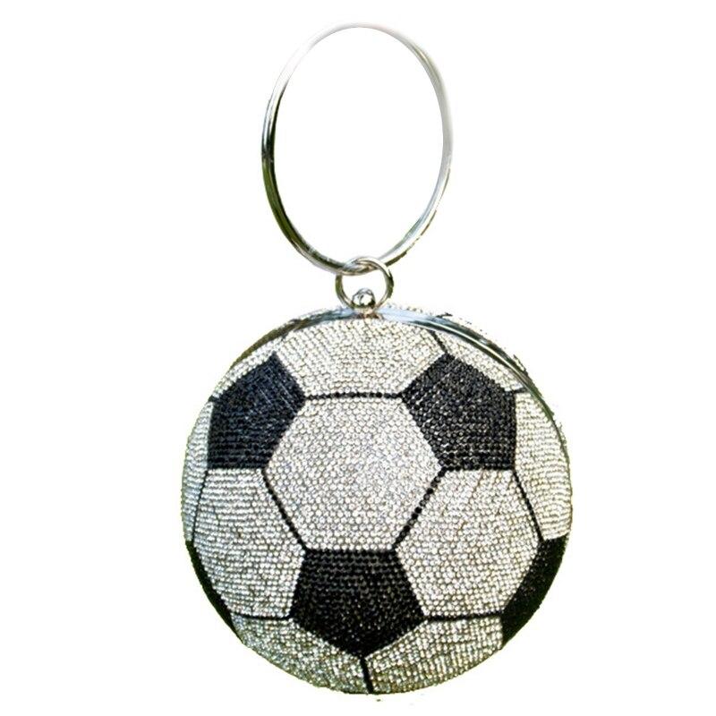 Стильная женская футбольная сумка вечерняя клатч невесты для