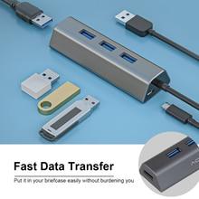 HDD SSD USB 허브 4 포트 5Gbps USB 3.0 분배기 어댑터 (PC 컴퓨터 프린터 용 전원 포트 포함) USB 플래시 드라이브 휴대용 HDD SSD