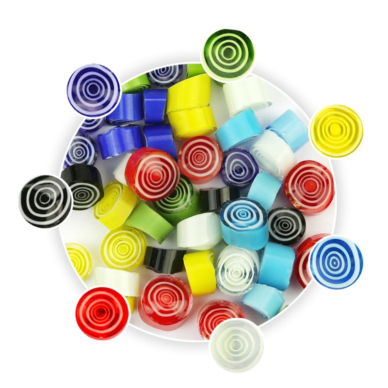 28g 90 COE Millefiori Fusible Glass Beads Mosaic For Jewelry Making Necklace Bracelet DIY Craft Decorations(China)