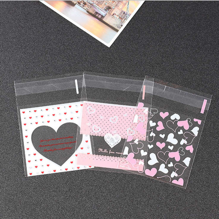 100PCS Cute Cartoon Plastic Bag Wedding Birthday Party Favors Cookie Candy Gift  Bags Christmas Presents Bags Christmas Bag