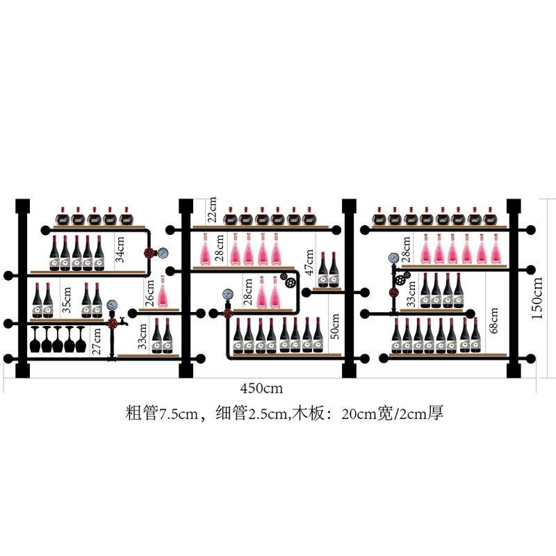 Iron Pipe And Wooden Upright Wine Holder Rack ;european Retro Style Bar/home Creative Violin Guitar Wine Rack Cabinet Shelf