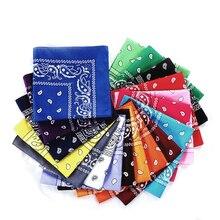 Модная бандана в стиле хип-хоп из хлопка, квадратный шарф 55 см* 55 см, черная, красная повязка на голову с принтом пейсли для женщин/мужчин/мальчиков/девочек