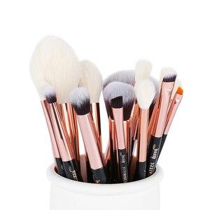 Image 5 - ג סאפ יופי 15pcs קוסמטיקה איפור מברשות סט Dropshipping pinceaux maquillage קרן צללית מיזוג מברשות T162