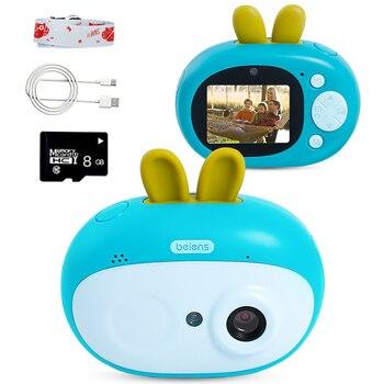 Beiens crianças câmera digital brinquedos 8 megapixeles crianças presente de aniversário criança brinquedo educacional com 8g cartão sd para crianças idade 3-10