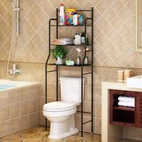 Estante de acero inoxidable para baño, anaquel metálico de 3 niveles para ahorro de espacio en el cuarto de baño
