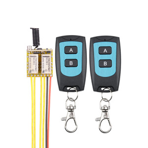 DC 3.7V to 12V Mini RF 2CH Relay 433MHZ Wireless Remote Control 5V micro switch NO COM NC Transmitter Receiver With Learn Button