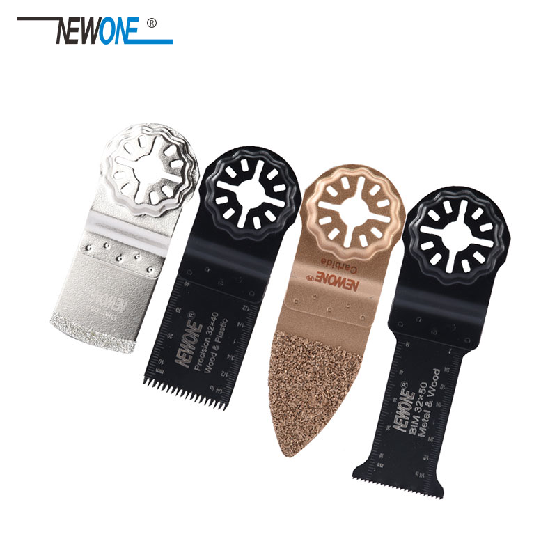 All Purpose Oscillating Multi-Tool Accessory Blade Set 4 Pc The New Starlock Mounting System Applications In Wood With Metal