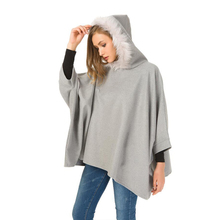 Buy Loose Long Sleeve Coat Wool-like Hooded Winter Custom Cropped Maternity Wear Hoodie Cloak for Pregnant Woman directly from merchant!