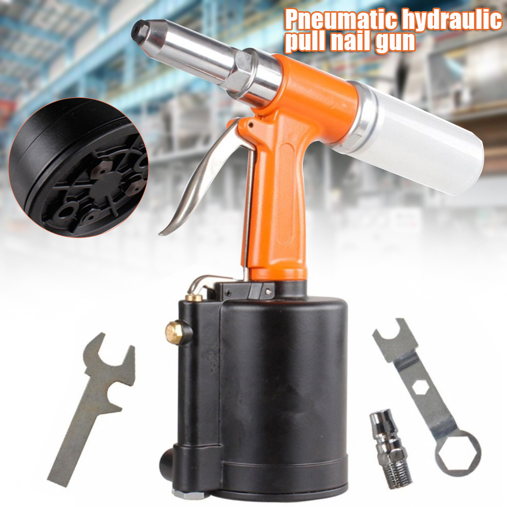 Best Deal▐Pneumatic-Nail-Riveting-Tool Riveter Industrial Black 8 Light-Weight CLH Orange Hydraulics-Type