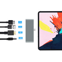 USB C para iPad Air, iPad Pro 12,9 11 2018 tipo C a HDMI USB 3,0 PD Puerto 3,5mm Jack USB-C HUB USB adaptador para MacBook Pro(China)