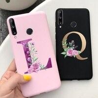 Funda con letras bonitas para Huawei Y5p Y6p Y7p 2020, carcasa trasera de silicona suave y delgada para Huawei Y7p Y6p Y5p