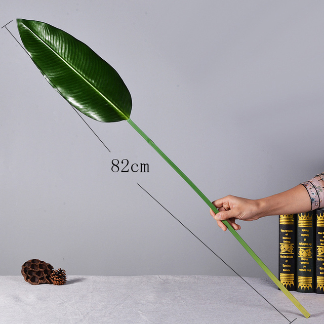 Green Artificial Palm Leaves 5pcs 4