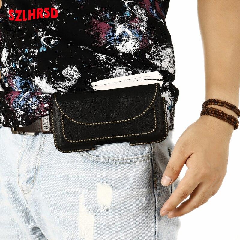 Insert card Belt Waist Bag business Genuine Leather Case For LG K12 Max K20 K40s K50 K8S K11 Plus K30 K8 K9 K10