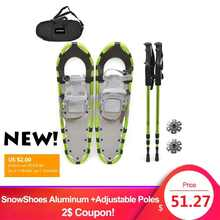 Outdoor Winter SnowShoes Aluminum with Adjustable Poles Carry Bag for Women Men Ski Boots Adjustable Bindings Carrying Tote Bag - DISCOUNT ITEM  55% OFF Sports & Entertainment