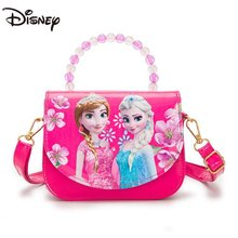 Disney Princess New Frozen Girl One Shoulder Messenger Bag Fashion Casual Children's Handbag Large Capacity Girls Storage Bag