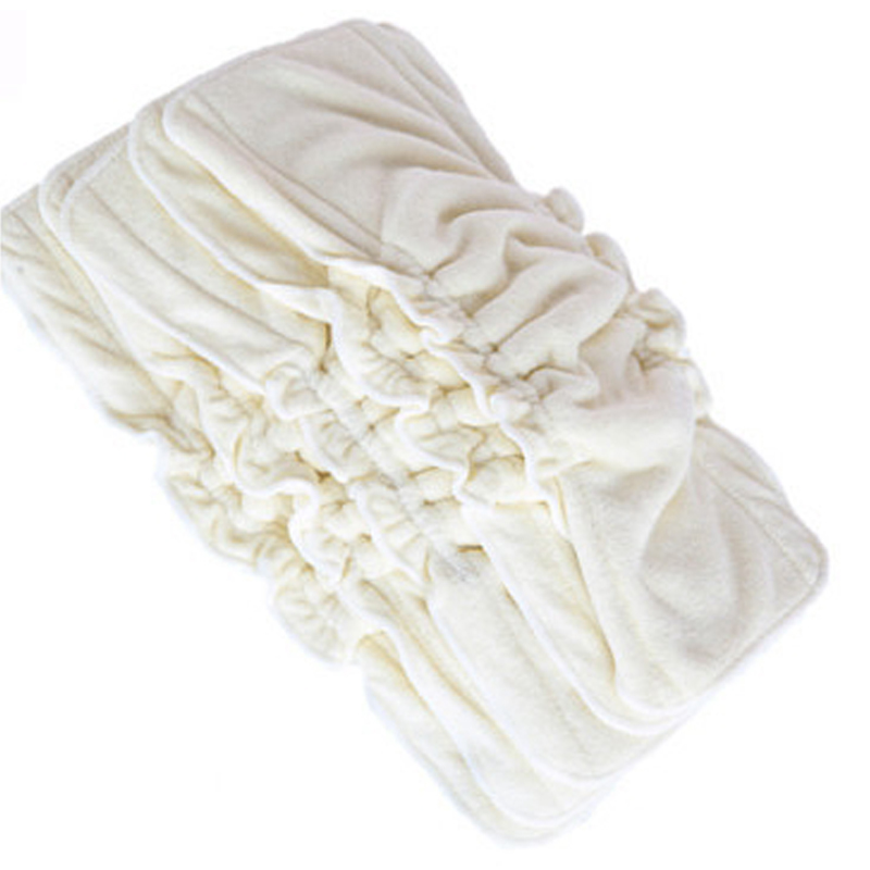 3Pcs Reusable Bamboo Cotton Inserts Liners For Baby Diaper Cover 5 Layers Nappies Insert Washable Diaper Inserts