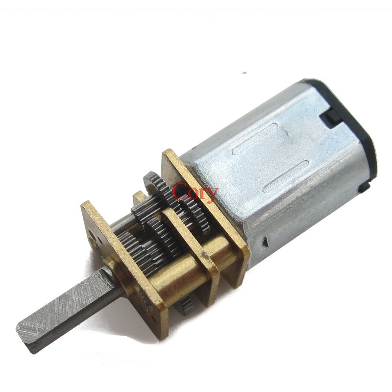 1PC DC 3V/6V/12V N20 Mini Micro Metal Gear Motor with Gearwheel DC Motors 15/30/40/50/60/80/100/200/300/500/1000RPM CZYC