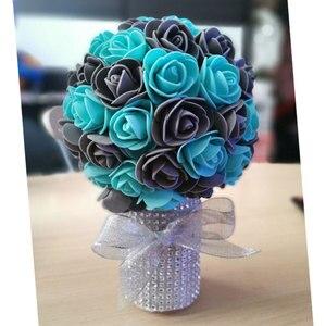 Image 5 - Köpük güller 500 adet 3.5cm yapay köpük çiçek kafaları DIY 20cm oyuncak ayı kalıp gül ayı aksesuarları dekor sevgililer hediye