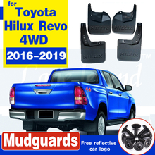 цена на Car accessories Molded Mud Flaps For Toyota Hilux revo 4WD 2016 2017 2018 2019 Splash Guards Front Rear Mudguards Fender