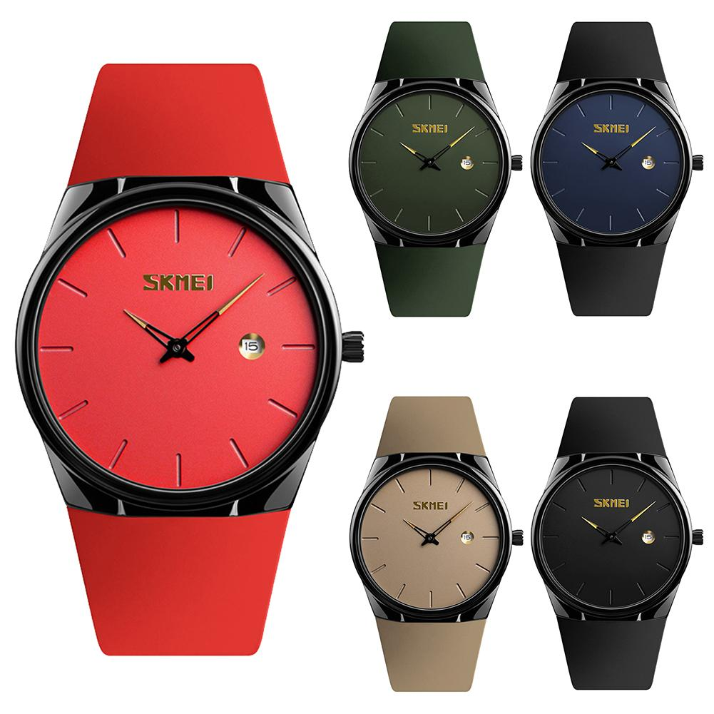 New Style Ultra Thin Waterproof Calendar Big Round Dial Quartz Wrist Watch Couple Gift New