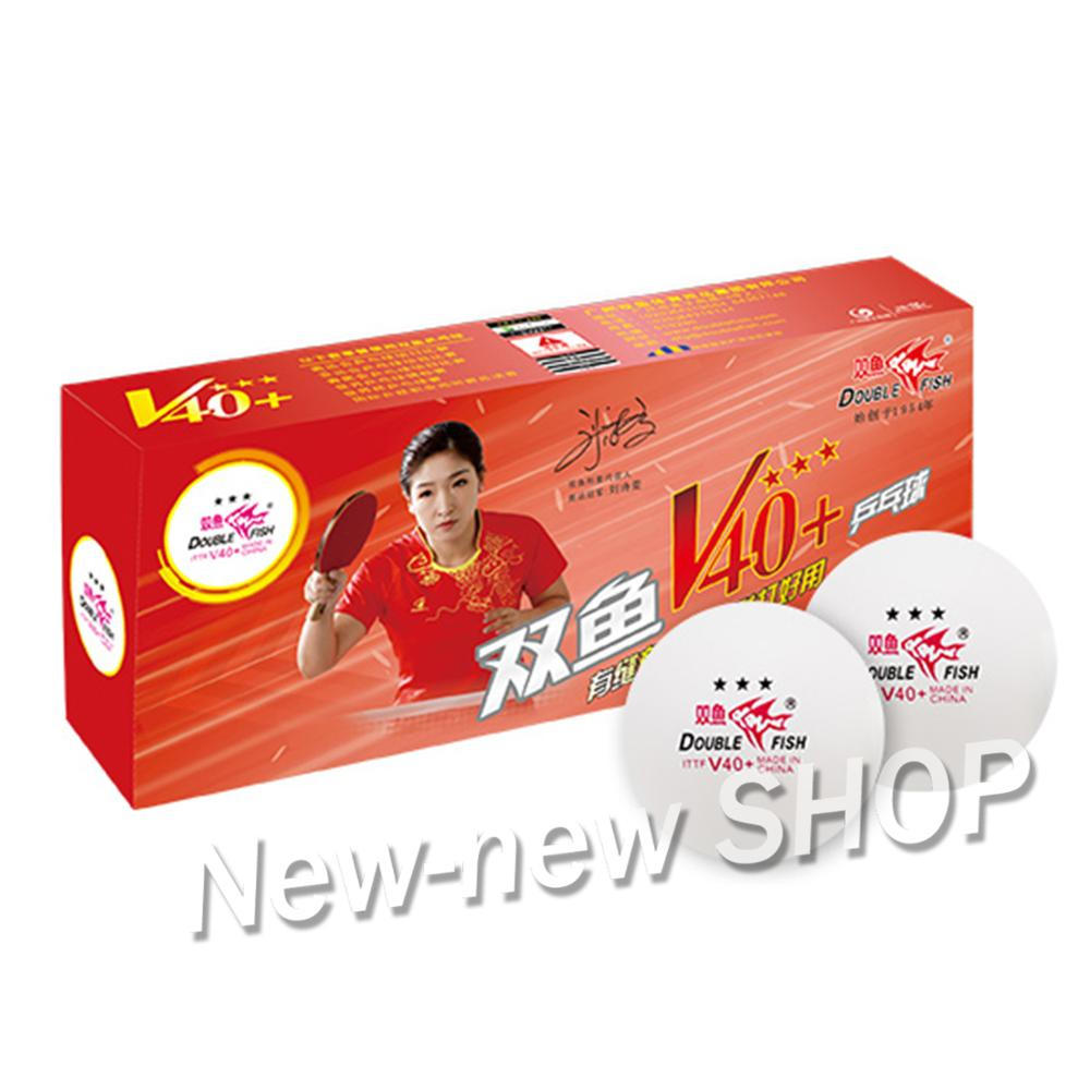 Original Double Fish 3-Star V40+ Table Tennis Balls 40+ New Material Seamed Plastic ABS Ping Pong Balls
