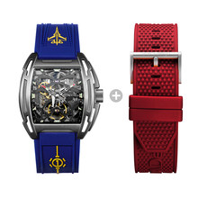 CIGA DESIGN Z-Reloj de pulsera de titanio para hombre, cronógrafo militar con 2 correas de silicona, resistente al agua, edición limitada