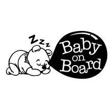 Auto Styling Baby Aan Boord Leuke Cartoon Auto Sticker Staart Waarschuwing Logo Decals