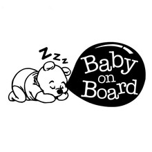 Car Styling BABY ON BOARD Cute Cartoon Car Sticker Tail Warning Logo Decals