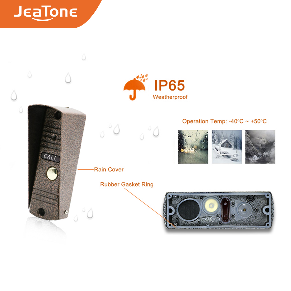 Купить с кэшбэком JeaTone Door Phone Intercom Outdoor Call Button Call Panel Home Security Video Intercom Apartment doorbell Video IR Night Vision